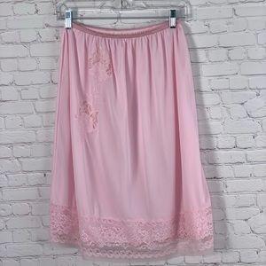Vintage Half Slip Pink Floral Size Large